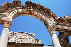 Die Ruinen von Ephesus die Türkei Stockfotos