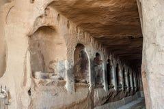 Die Ruinen von Grotten in Mati Temple Lizenzfreie Stockfotos