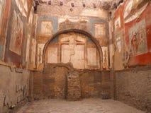Die Ruinen von Herculaneum, Innenfresko Lizenzfreies Stockfoto