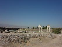 Die Ruinen von Hierapolis Stockbilder
