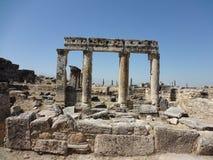 Die Ruinen von Hierapolis Stockfotos