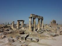 Die Ruinen von Hierapolis Lizenzfreies Stockfoto