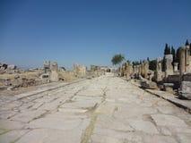 Die Ruinen von Hierapolis Stockbild