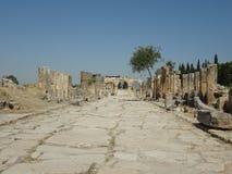 Die Ruinen von Hierapolis Stockfoto