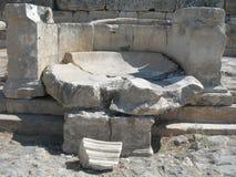 Die Ruinen von Hierapolis Lizenzfreie Stockfotografie
