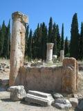 Die Ruinen von Hierapolis Lizenzfreies Stockbild