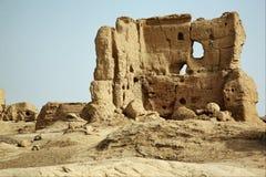 Die Ruinen von jiaohe Lizenzfreies Stockbild