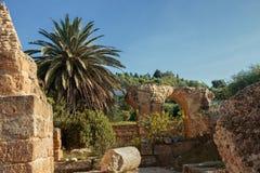 Die Ruinen von Karthago in Tunesien stockbilder