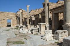 Die Ruinen von leptis Magna stockfotografie