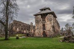 Die Ruinen von Rauna-Schloss Lizenzfreies Stockfoto