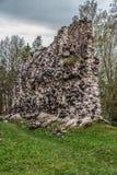 Die Ruinen von Rauna-Schloss Stockbild
