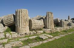 Die Ruinen von Sizilien Stockfoto
