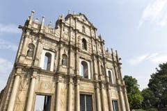 Die Ruinen von St- Paul` s in Macau Lizenzfreie Stockfotos