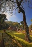 Die Ruinen von Sukuh-Tempel Indonesien lizenzfreie stockbilder