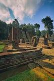 Die Ruinen von Sukuh-Tempel Indonesien lizenzfreie stockfotografie