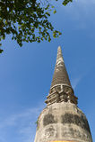 Die Ruinen von Wat Yai Chai Mongkon Stockbild
