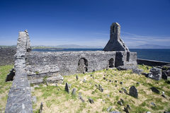 Die ruines einer alten Kirche Stockbild