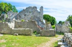 Die ruinierte Festung stockfotos