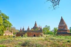 Die ruinierten alten Tempel in Bagan, Myanmar Stockbild