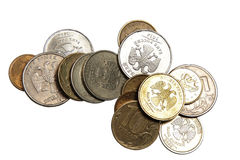 Die russischen geld- Münzen Lizenzfreie Stockfotografie
