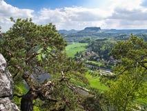 Die sächsische Schweiz Stockbilder