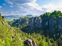 Die sächsische Schweiz Lizenzfreie Stockbilder