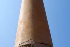 Die Säulen fanden bei Vaishali mit einzelner Löwe Haupt-Ashoka-Säule in Indien lizenzfreie stockfotos