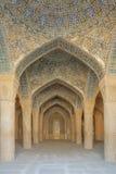 Die Säulenhalle von Vakil-Moschee Stockfotografie