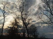 Die Sümpfe eines Louisiana-Sonnenuntergangs stockfoto