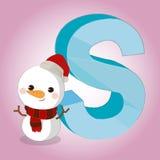 Die s-Schnee-Alphabetikone, die für irgendwelche groß ist, verwenden Vektor eps10 stock abbildung