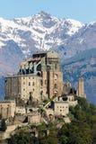 Die Sacra di San Michele Saint Michael Abbey, das Symbol von t Lizenzfreie Stockfotografie