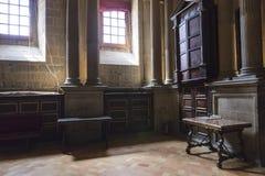 Die Sakristei ist ein rechteckiger Raum von 12 durch 22 Meter, ein Meister Lizenzfreie Stockbilder