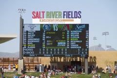 MLB Kaktus-Liga-Frühlingstraining-Spiel stockbilder