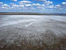 Die Salzebenen von See Elton Stockbild
