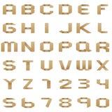 Die Sammlung von Origami Alphabet und Zahlen Lizenzfreies Stockbild