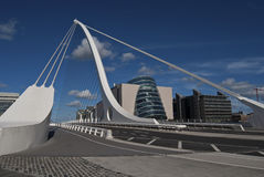 Die Samuel- Beckettbrücke lizenzfreies stockfoto