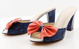 Die Sandalen der Frauen. Lizenzfreie Stockfotos