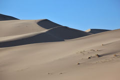 Die Sanddüne vor Sonnenaufgang Lizenzfreie Stockfotos