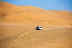 Die Sanddünen auf Ozeanküste Stockfoto