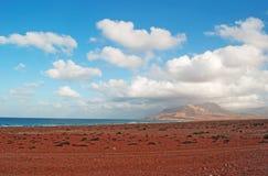 Die Sanddünen im Schutzgebiet von Archer, Socotrainsel, der Jemen Lizenzfreie Stockfotografie