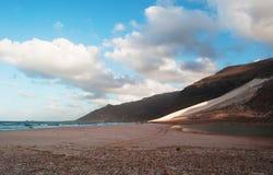 Die Sanddünen im Schutzgebiet von Archer, Socotrainsel, der Jemen Stockbild