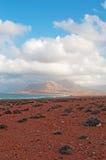 Die Sanddünen im Schutzgebiet von Archer, Socotrainsel, der Jemen Lizenzfreies Stockfoto