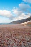 Die Sanddünen im Schutzgebiet von Archer, Socotrainsel, der Jemen Lizenzfreies Stockbild