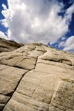 Die Sandsteine in der Schnee-Schlucht oben schauen - Utah Lizenzfreies Stockfoto