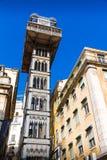 Die Santa Justa Lift (Elevador De Santa Justa) in Lissabon lizenzfreie stockfotografie