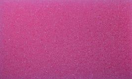 Die saubere rosa Schwammschaumbeschaffenheit stockfoto