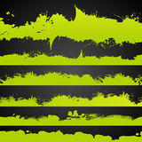 Die saure gezeichnete Farbe des Schmutzes spritzt Satz Lizenzfreies Stockfoto