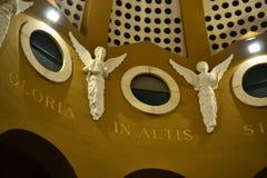 Die Schäfer-Feld-Kapellendecke vom Innere, Weihnachtsabend, Winkelzahlen, Bethlehem, Palästina, Israel stockbild