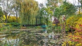 Die schöne Ansicht des Gartens von monet, Giverny, Frankreich Lizenzfreies Stockfoto