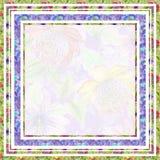 Die schöne Blumengrenze, die von der hellen Passionsblume gemacht wird, blüht Quadratischer Rahmen mit Raum für einen Text in der Lizenzfreie Stockbilder